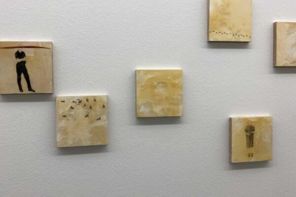 Zeichnungsinstallation Erinnerung (Haus für Kunst, Uri, 2019)